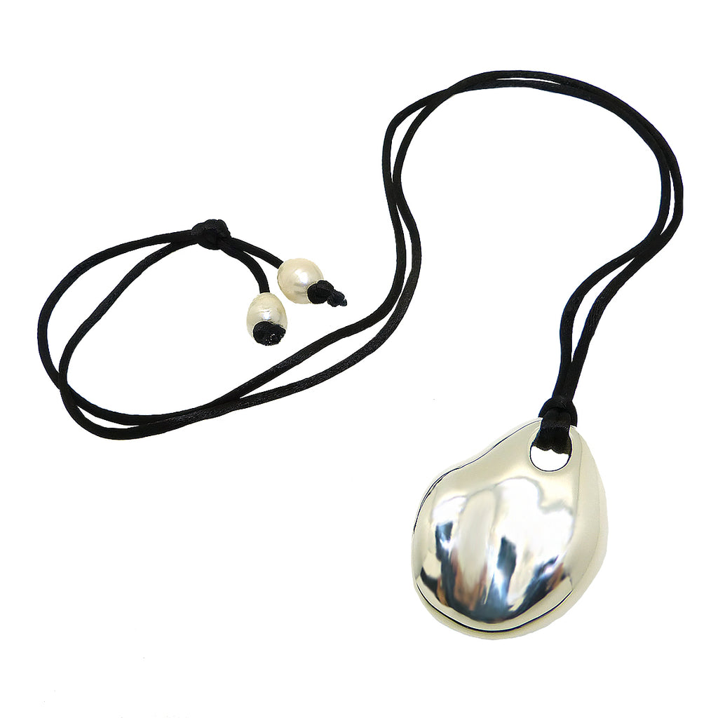 Sterling Silver Simon Sebbag Abstract Pendant Necklace on Black Silk Cord PN593SLKBP