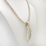 Simon Sebbag Sterling Silver Roped Pendant Pearl Suede Leather Necklace PN602 - ILoveThatGift
