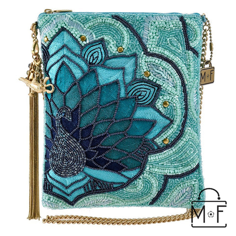 Mary Frances Palace Peacock Beaded Crossbody Handbag