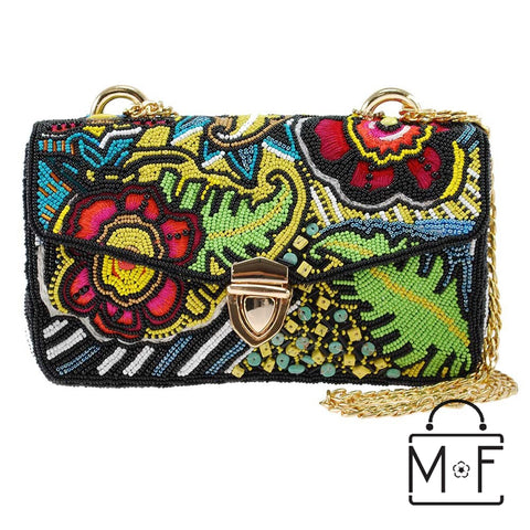 Mary Frances Play Time Beaded Convertible Cross body Shoulder Handbag Summer Fun