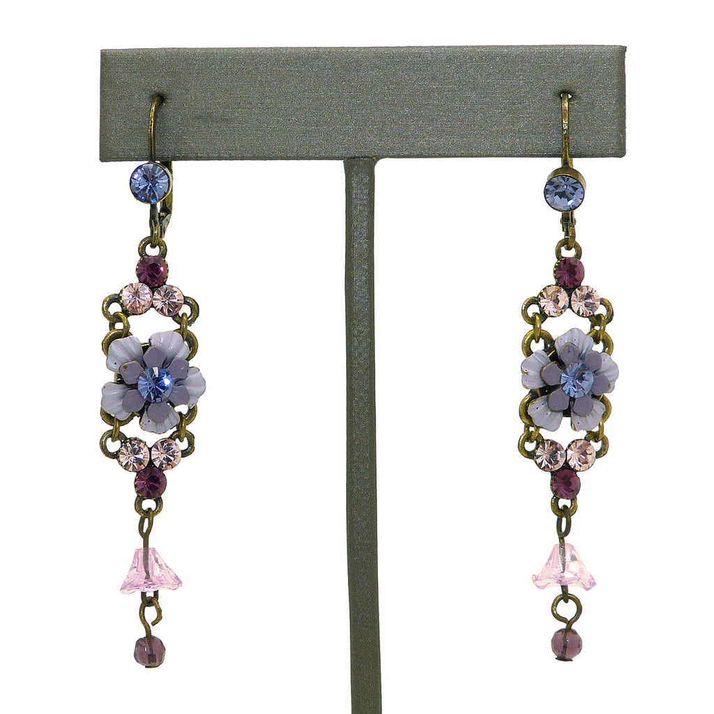 Artisan Purple made with Swarovski Crystal Dangle Earrings Dangle Earrings Handcrafted - ILoveThatGift