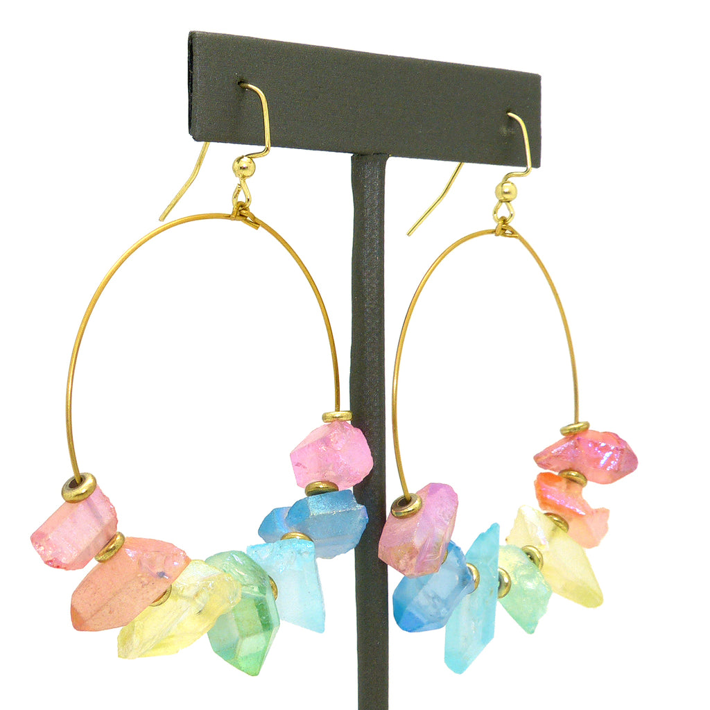 Hespera Rainbow Avalanche Earrings Nordstrom's Parisian Aura Crystals - ILoveThatGift