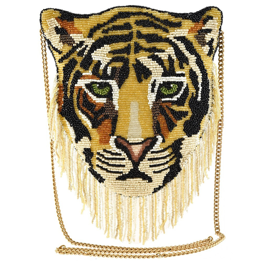 Mary Frances Rajah Disney Live Action Aladdin Beaded Crossbody Handbag Tiger - ILoveThatGift