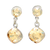 Anne Koplik Golden Shadow with Swarovski Crystal Teardrop Earrings worn DWTS ES8602CGS