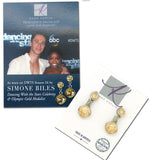 Anne Koplik Golden Shadow with Swarovski Crystal Teardrop Earrings worn DWTS ES8602CGS - ILoveThatGift