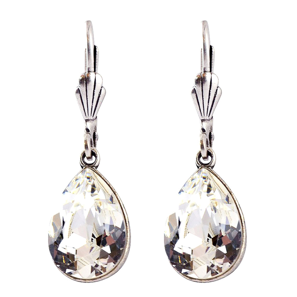 Anne Koplik Clear with Swarovski Crystal Teardrop Earrings as worn DWTS SSES7373CRY - ILoveThatGift