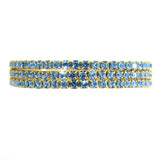Set of 3 Stretch Bracelet Swarovski Crystals Assorted Colors Pink Blue Yellow Black