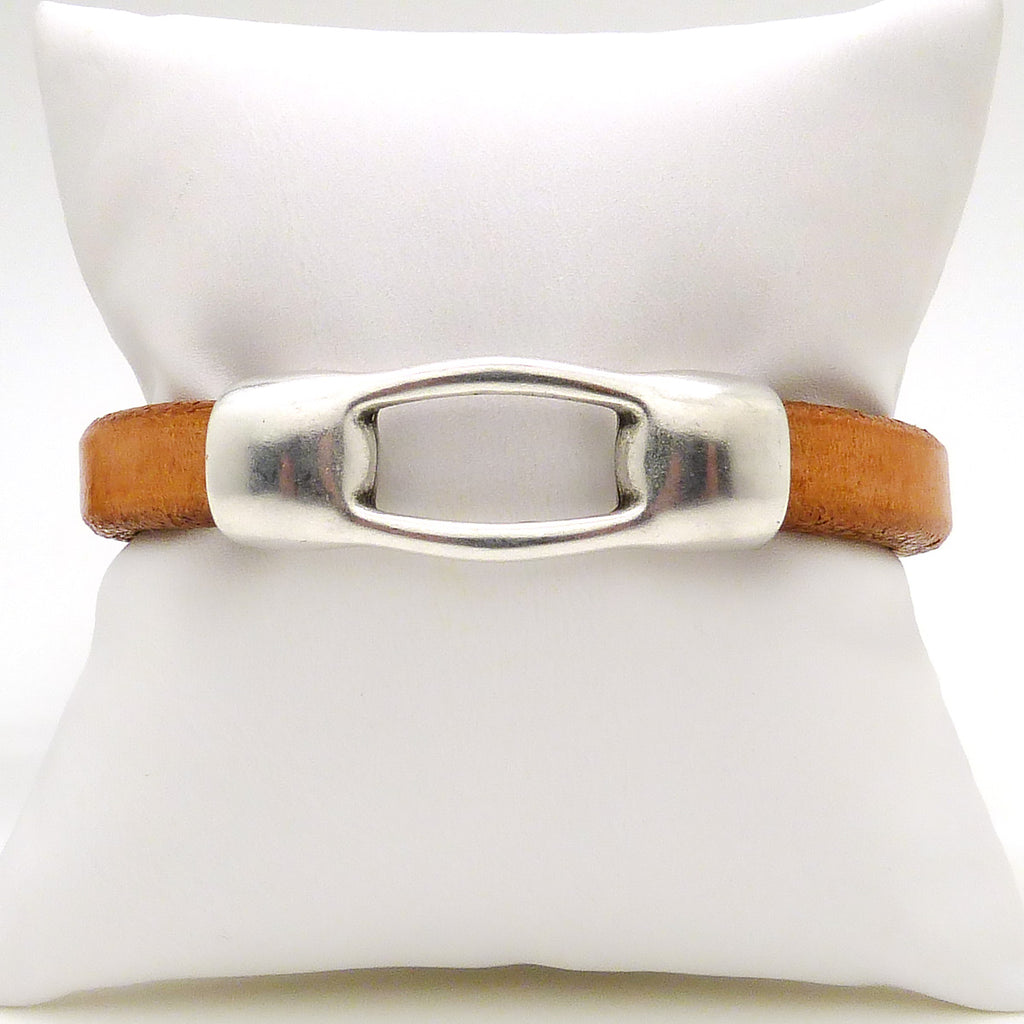 Gigi & Sugar Men's Carmel Brown Leather Bracelet Handmade - ILoveThatGift