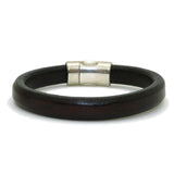 Gigi & Sugar Men's Dark Red Brown Leather Bracelet Handmade