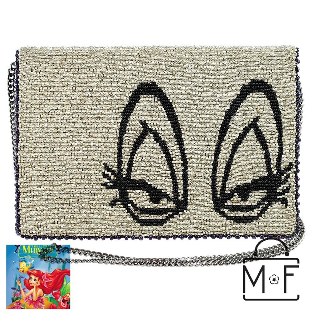 Mary Frances Sea Witch Beaded Ursula Cross body Clutch Disney Little Mermaid