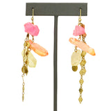 Hespera Shattered Rainbow Earrings Nordstrom's Parisian Aura Crystals Pink Ombre - ILoveThatGift