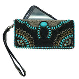 Mary Frances Squash Blossom Western Turquoise Beaded Embroidered Cross Body Wallet - ILoveThatGift