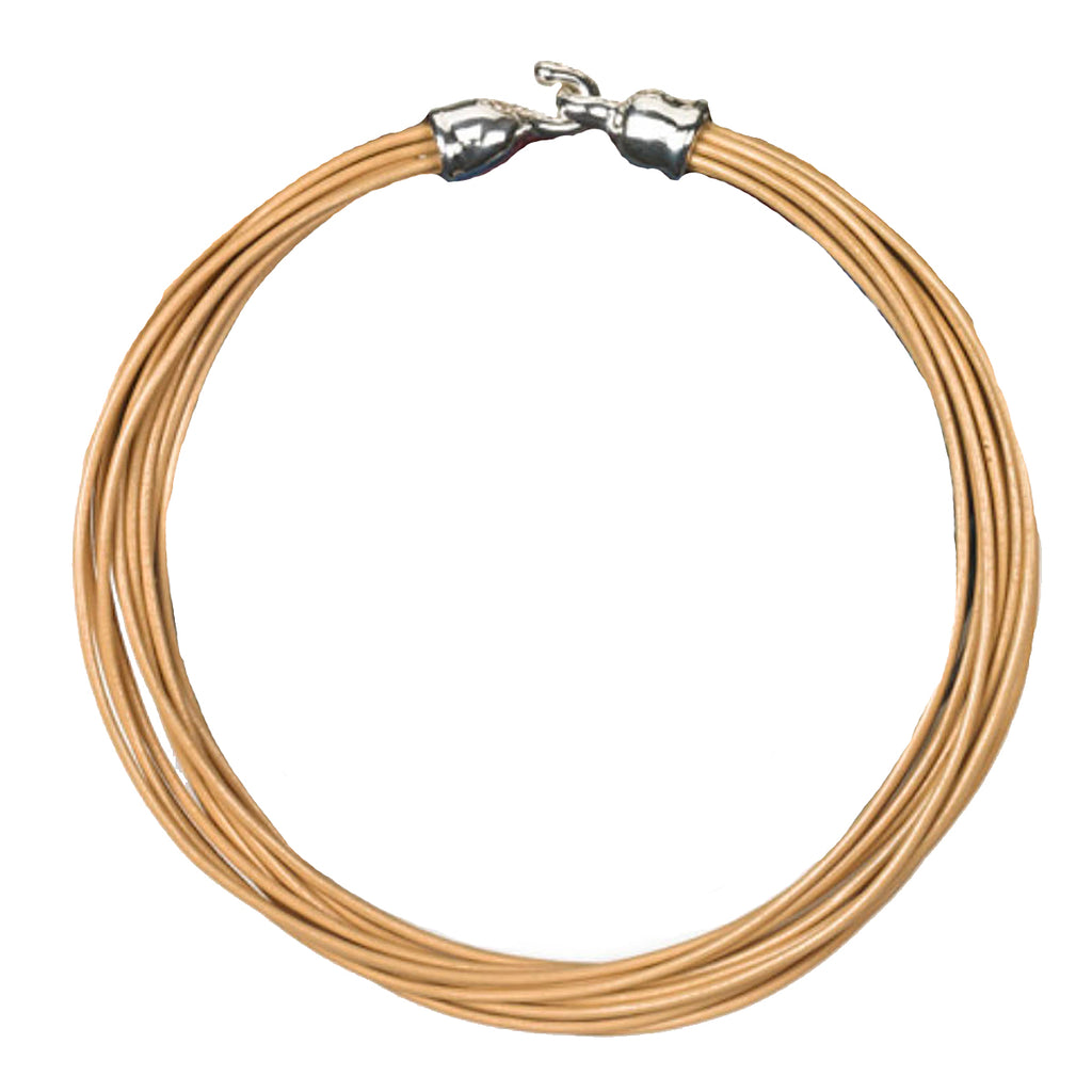 "Simon Sebbag Leather Necklace Nude 17"" Add Sterling Silver Slide - ILoveThatGift"
