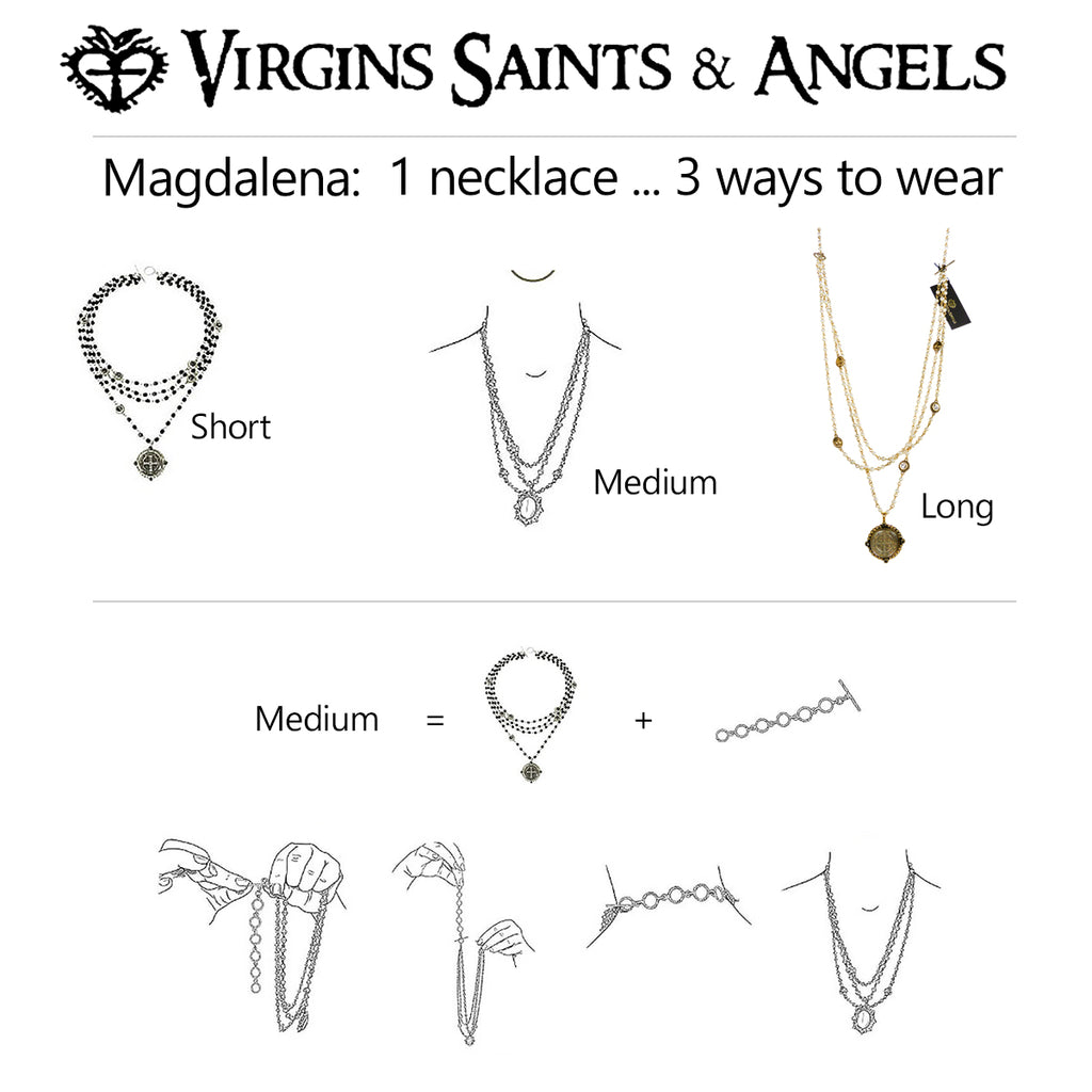 Virgins Saints & Angels San Benito Gold Pearl 4mm Magdalena Necklace - ILoveThatGift
