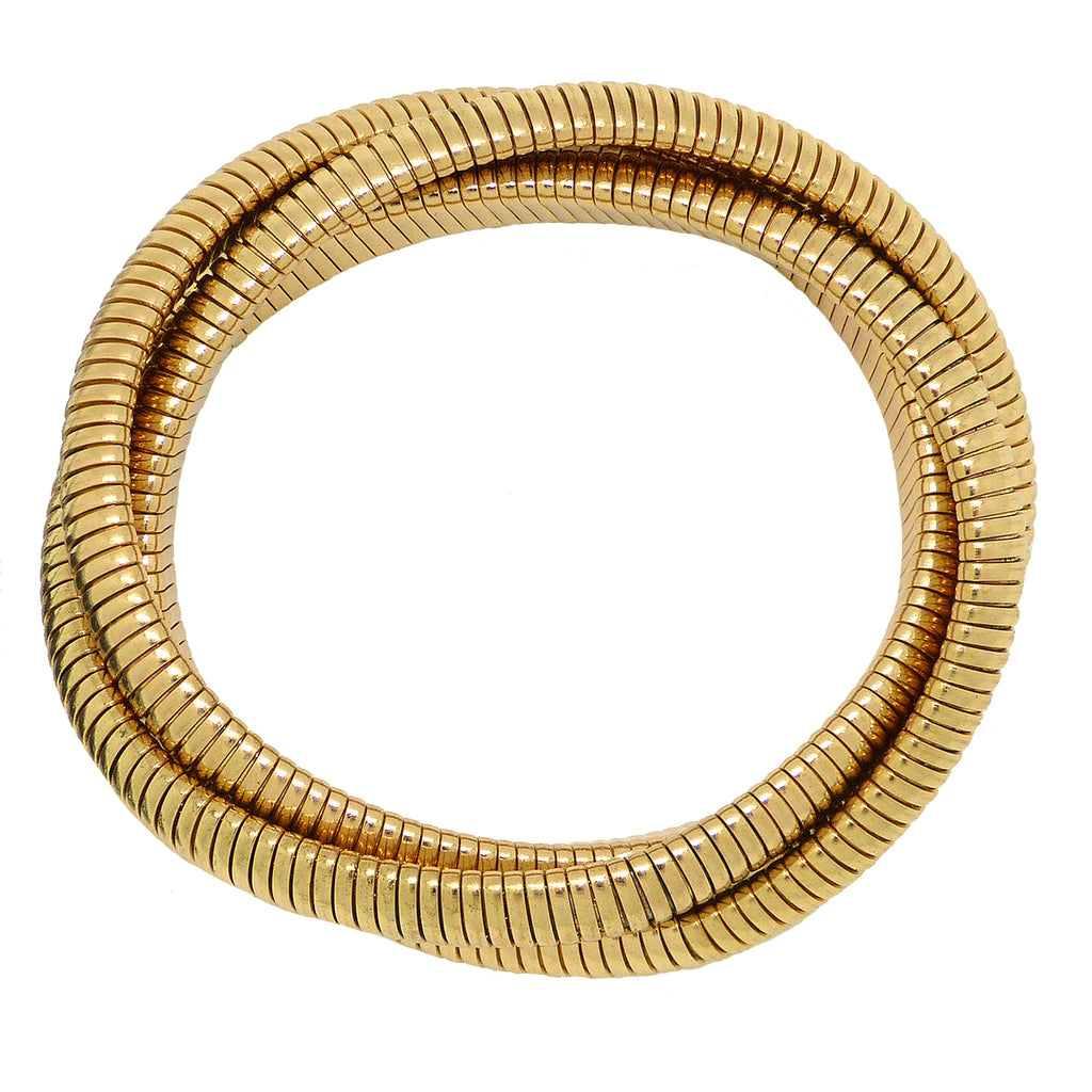 High Polished Gold Triple Cobra Bracelet Designer Inspired wear with Janis Savitt - ILoveThatGift