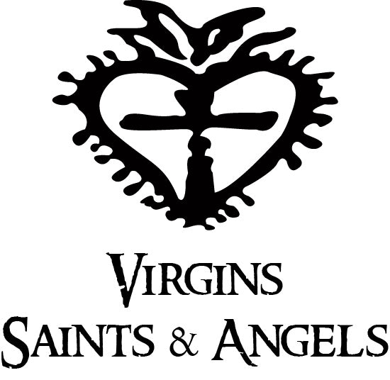 "Virgins Saints & Angels Sacred Heart Silver Oval Drop Collar 20"" Necklace Clear - ILoveThatGift"