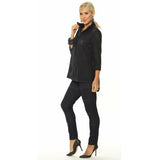 Alisha D Victoria Navy Shirt Collar Cuff Jacket Small - ILoveThatGift