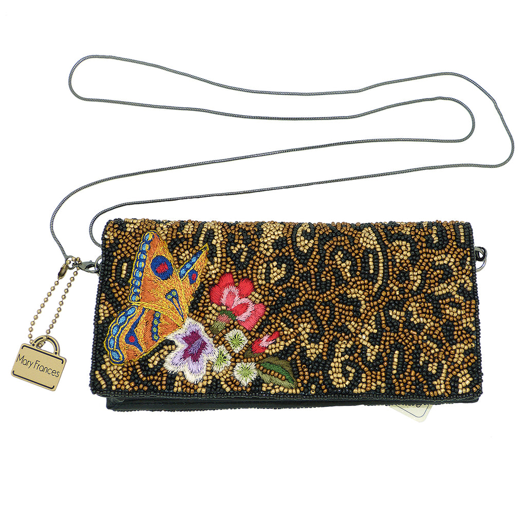 Mary Frances Wild Garden Beaded-Embroidered Cross Body Wallet - ILoveThatGift