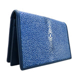 Blue Leather Stingray Business Credit Card Case - ILoveThatGift