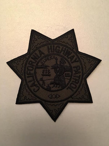 California Highway Patrol Officer CHP Badge Patch Subdued Version