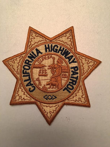 California Highway Patrol Badge Patch