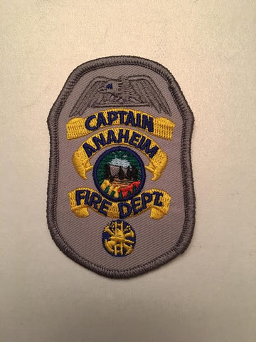 Anaheim California Fire Department Captain Rank Badge Patch