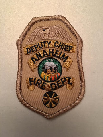 Anaheim California Fire Department Deputy Chief Rank Badge Patch