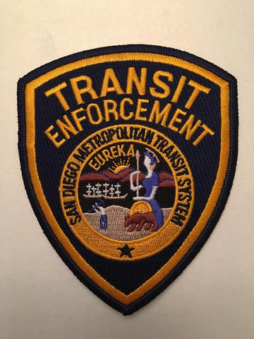 San Diego For You Metropolitan Transit System Transit Enforcement Police Patch