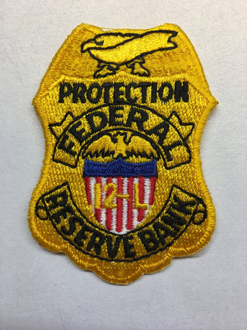 Federal Reserve Bank Protection Officer Federal Agent Badge Patch