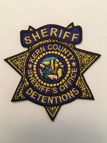 Kern County California Sheriffs Office Detentions Badge Patch
