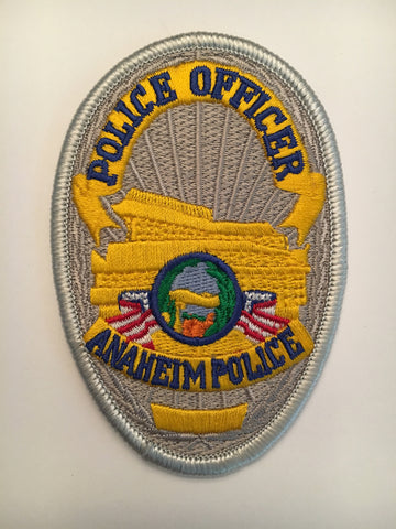Anaheim California police officer badge patch