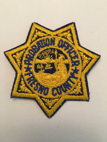 Fresno County California Probation Deaprtment Probation Officer Badge Patch