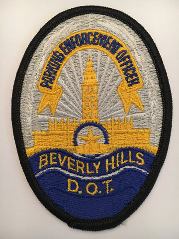Beverly Hills California Police Department parking enforcement officer badge patch