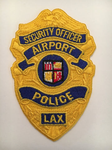 Los Angeles California international airport security officer badge patch