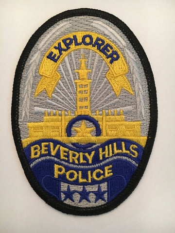 Beverly Hills California Police Department explorer badge patch