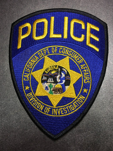 California Department of Consumer Affairs Division of Investigation Police Patch