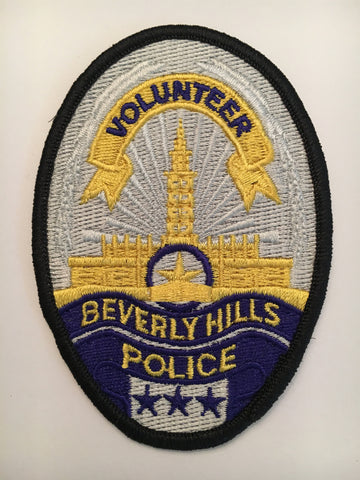 Beverly Hills California Police Department volunteer badge patch