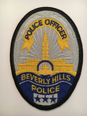 Beverly Hills California Police Department police officer badge patch