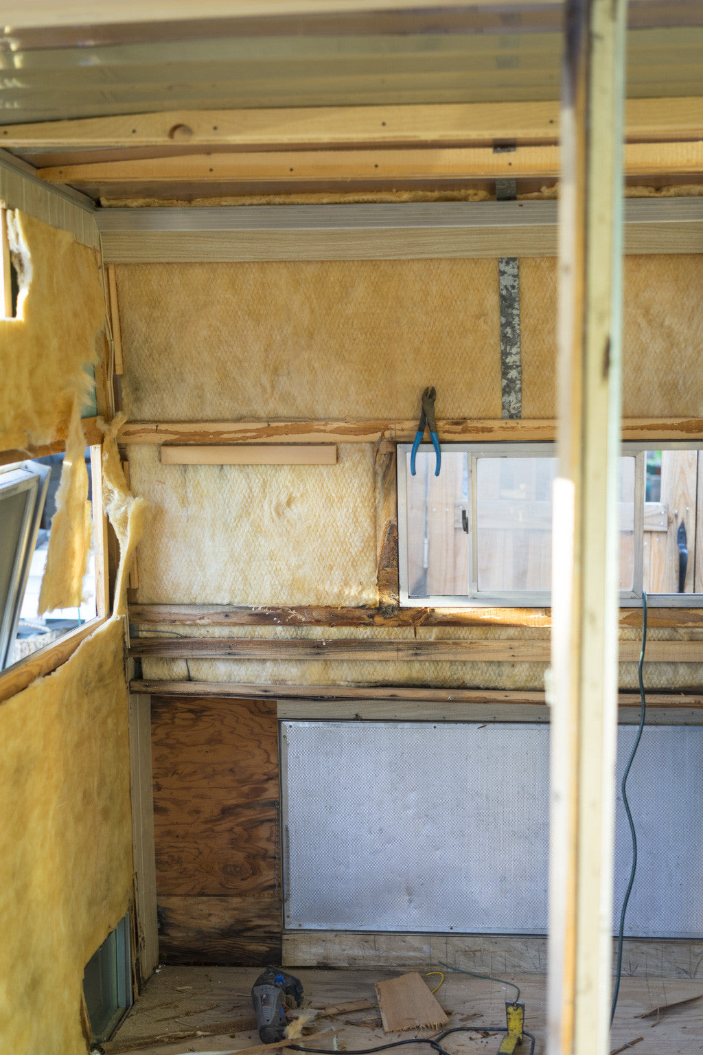 Vintage Trailer Restoration Interior