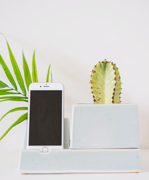 Ceramic Phone Charging Dock/Succulent Planter - Dalla Vita - 1