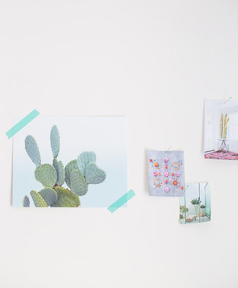 Wilder California Blue Cactus Print - Dalla Vita