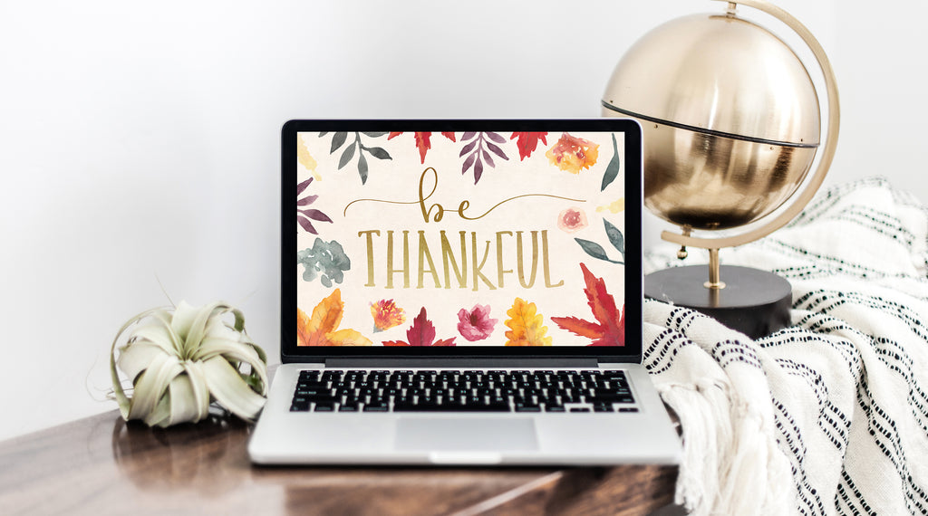 November Freebie: Be Thankful Wallpaper Download