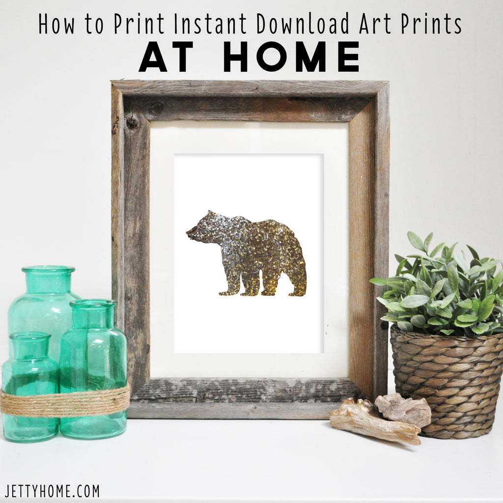How to Print Instant Download Art Prints at Home
