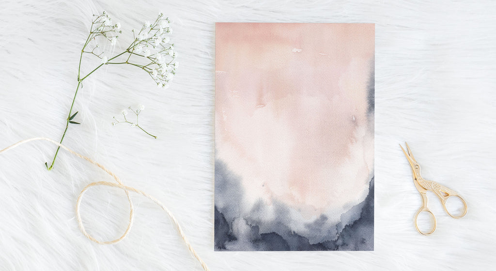 New Collection: Jump Into Dreamland with Blush and Indigo Abstracts