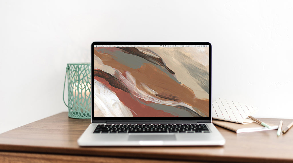October Freebie: Autumnal Abstract Wallpaper Download