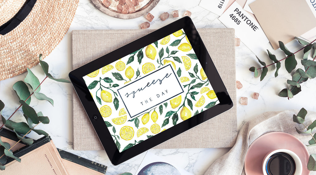 September Freebie: Squeeze the Day Lemon Wallpaper Download