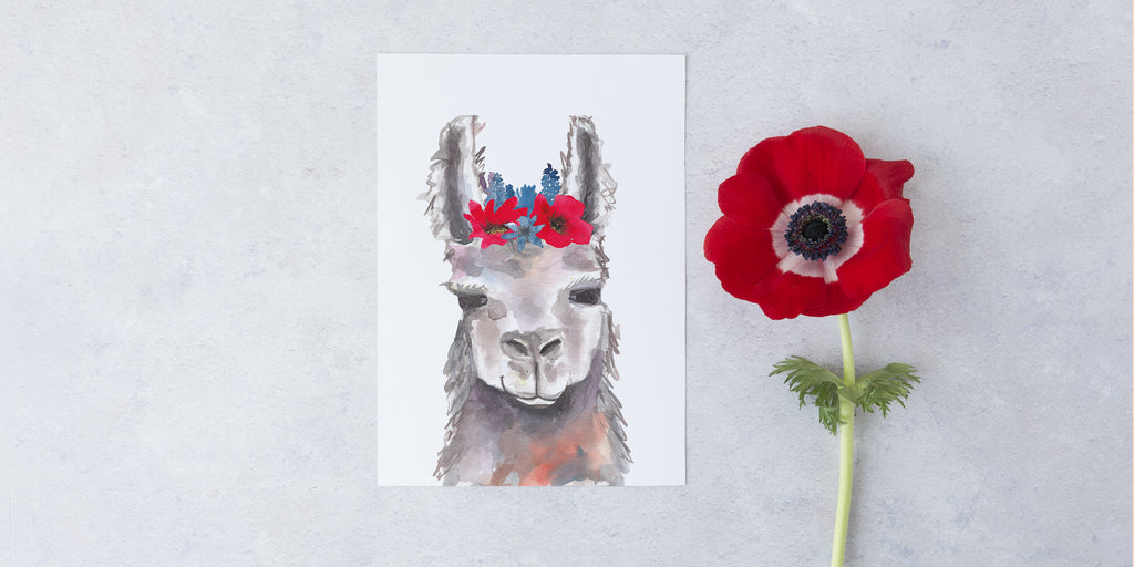 New Collection: Bohemian Llamas Bring Whimsy to Wall Décor