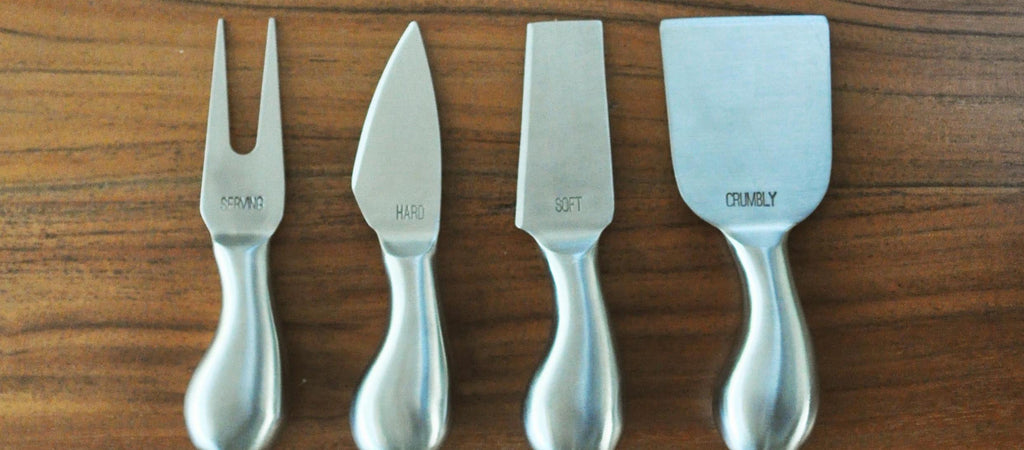 Engraved cheese knife set - Cheese knives by jetty home