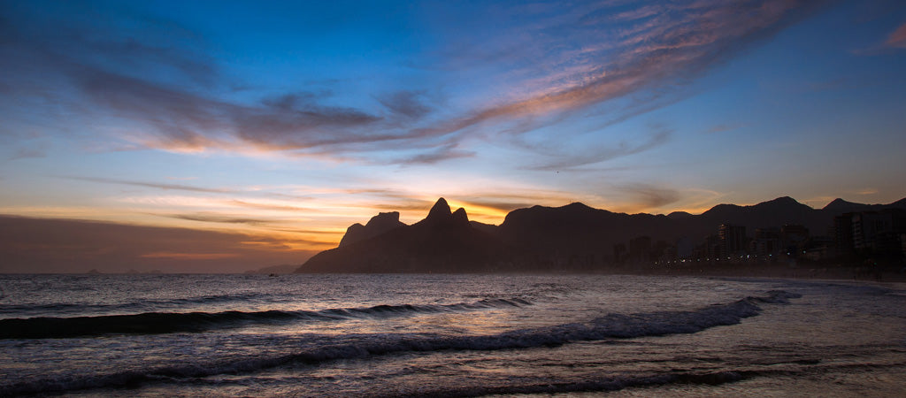 Ipanema Beach, Brazil sunset