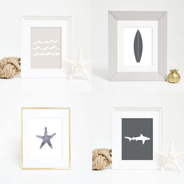 neutral wall art ocean prints